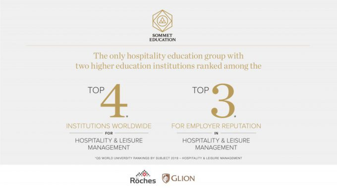 The Only Education Group With Two Higher Education Institutions Ranked Among The World's Top Four In Hospitality And Leisure Management And The World's Top Three For Employer Reputation