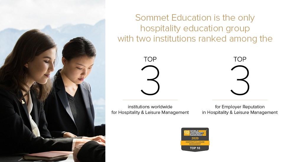 Two Institutions From Sommet Education Rank World's Top Three In Hospitality And Leisure Management In QS World University Ranking