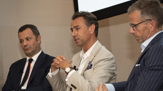 "Quentin Desurmont (centre), President Of Traveller Made, Speaks At Glion's ""The Art Of Luxury Leadership"" Conference In Paris On 18 October 2018"