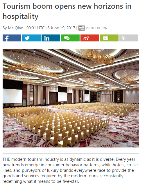 Tourism Boom Opens New Horizons In Hospitality